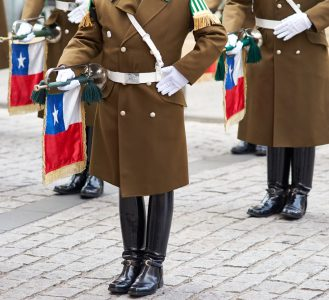 Santiago,,Chile,-,August,4,,2014:,Members,Of,The,Carabineros